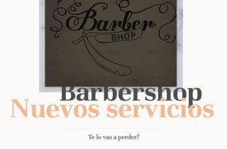 Barbershop con nuevos servicios